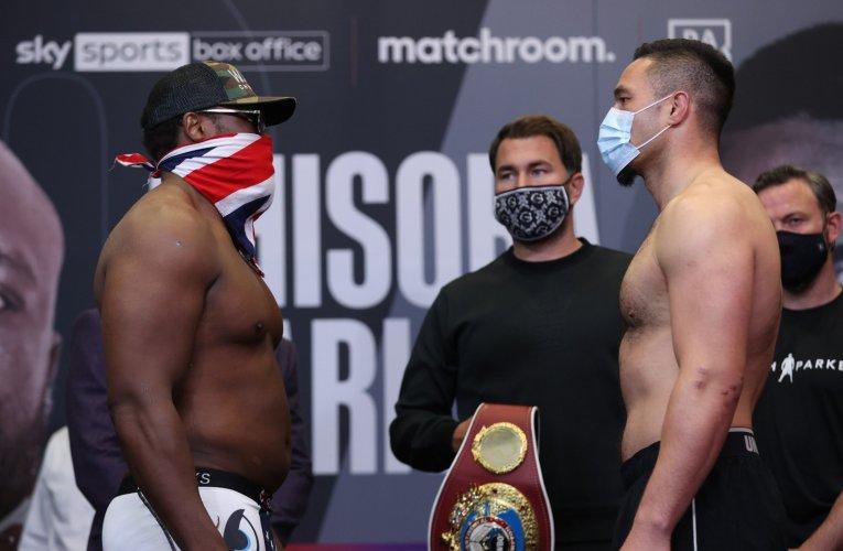 PESAJE OFICIAL: Chisora vs Parker, Eubank Jr vs Morrison, Bivol vs Richards