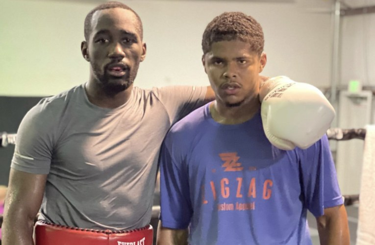 Terence Crawford y Shakur Stevenson en intensa sesión de sparring