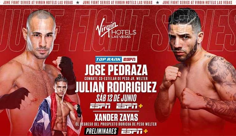 José Pedraza vs Julián Rodríguez, y el regreso de Xander Zayas en la cartelera Stevenson vs Nakathila