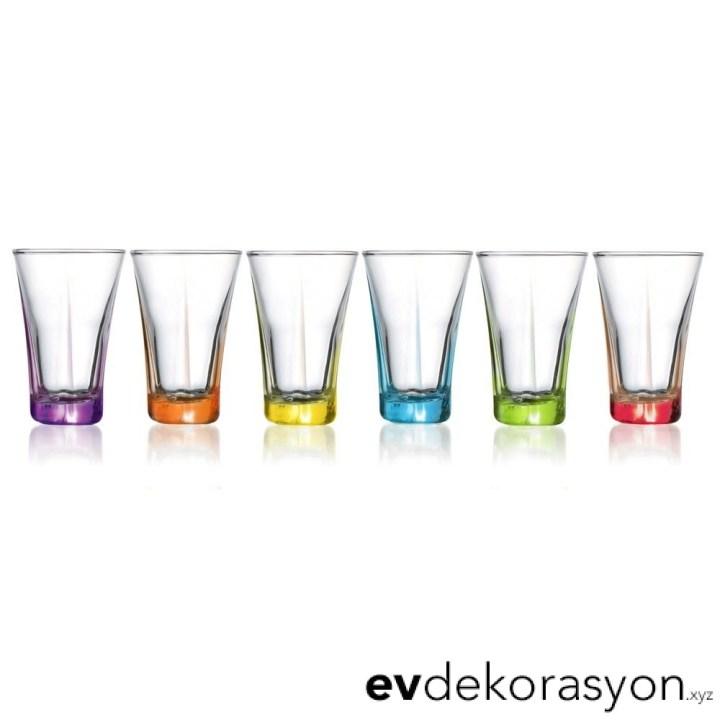 Lav Likör Bardağı Renkli 6 Lı
