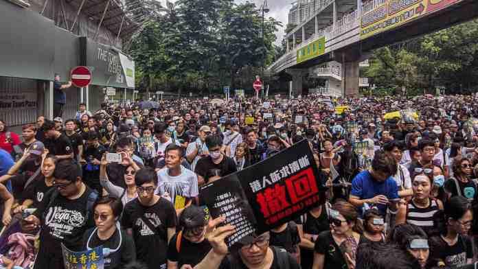 Hong Kong'da Protestocular