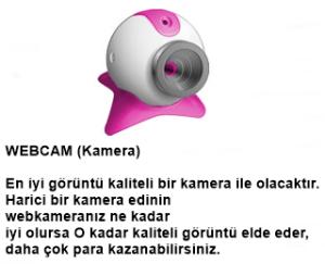 Webcamera Görüntülü Sohbet Operatörü Evde Çalışabilecek bayanlar
