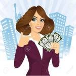 47342985-portrait-of-young-female-bank-representative-holding-a-fan-of-money-in-one-hand-and-pointing-at-it-w Bayan İş İlanları Bağcılar