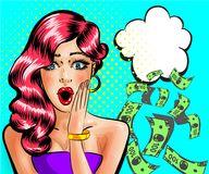 vector-pop-art-surprised-beautiful-pin-up-girl-thinking-money-vector-illustration-surprised-beautiful-woman-thinking-110528743 Evde sohbet ederek para kazanma