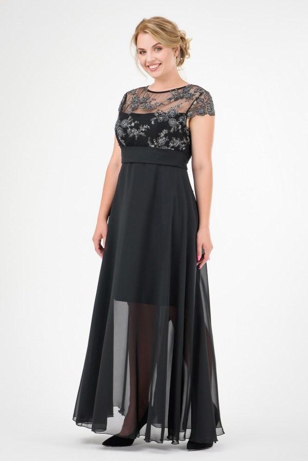 Длинное вечернее платье, большие размеры