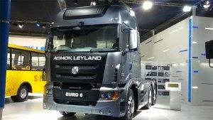 Ashok Leyland EURO 6 electric truck in India