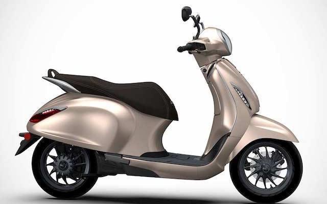 Bajaj Chetak Electric Scooter Side view