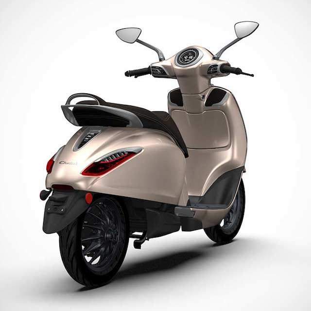 Bajaj Chetak Electric Scooter premium hazelnut model 2020