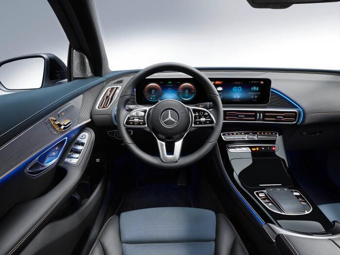 Mercedes-Benz EQC interior _ Electric Vehicle