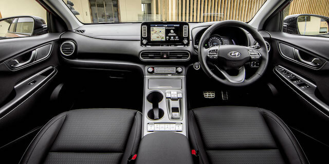 Interior of Hyundai Kona Electric