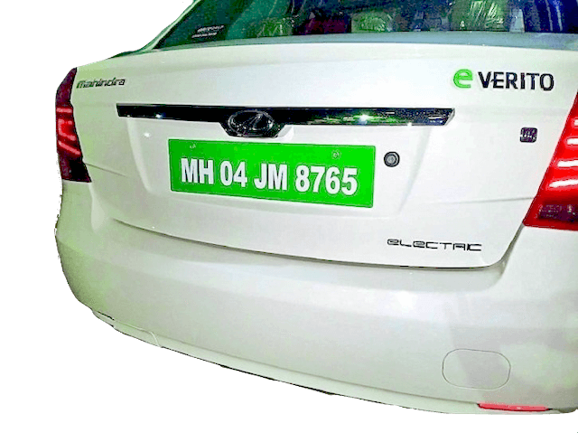 Type of EV number plate for private use