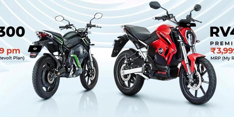 Revolt Electric Motorcycles RV300 & RV400