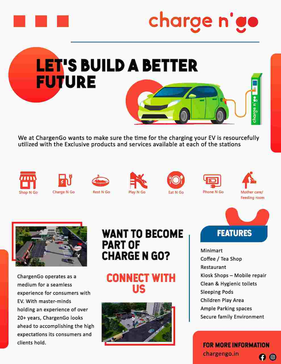 Exclusive Features of Charge n' Go