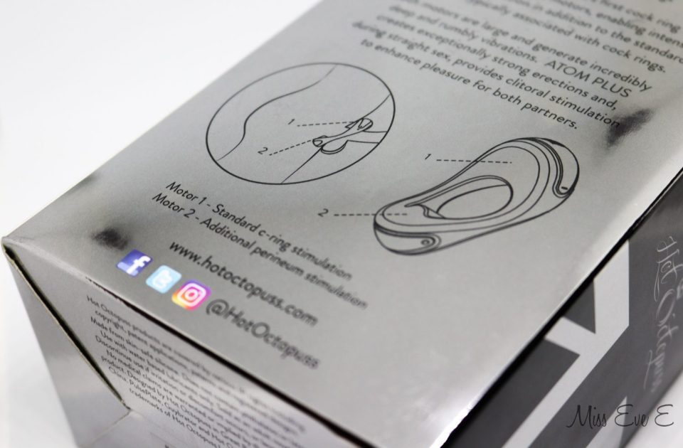 An image showing a diagram of the Hot Octopuss ATOM Plus Cock Ring.