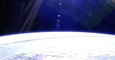 La ligne mystère s'étendant sur des milliers de kilomètres à travers la Terre est repérée sur flux de l'ISS