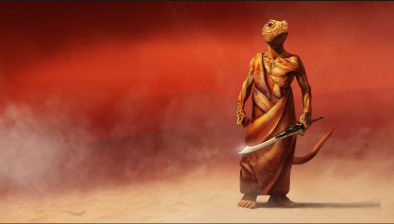 Reptilien de Mars par Andy Cramer