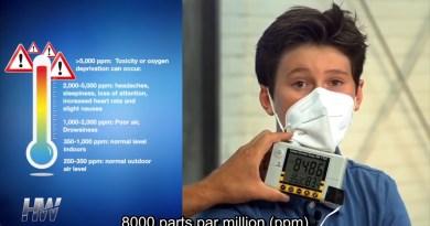 Test catastrophique du niveau de CO2 dans les masques : à voir d'urgence !