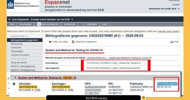 Explosif !  Nous avons La Preuve que les Rothschild ont breveté les tests biométriques covid-19 En 2015 Et 2017