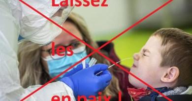 Urgent : Les tests antigéniques à l'école sont illégaux, L'ARS ne peut imposer aucun test !