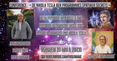 De Nikola Tesla aux programmes spatiaux secrets par Chris Essonne (éther, nouvelle physique, SSP…)