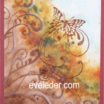 impressionist butterfly card