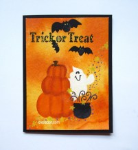 Hand Painted Cards--Halloween--learn how they can be easier than you might think