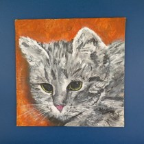 Primitive Cat Painting