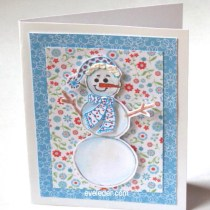 Flower Snowman Card--free card making tutorial