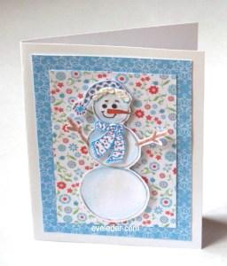 Flower Snowman Card--free card making tutorial