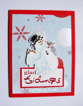 Glad Tidings Snowman Card — FREE card making tutorial