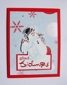 Glad Tidings Snowman Card--Free Holiday Card Tutorial