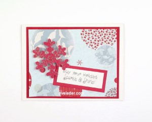 Red Snowflake--Free card making tutorial