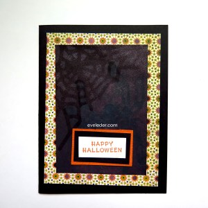 Spider Web and Hidden Spider--Free Halloween Card Making Project