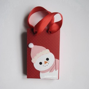 Paper Snowman Gift Bag