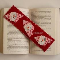 Snowman Bookmark--free felt craft project