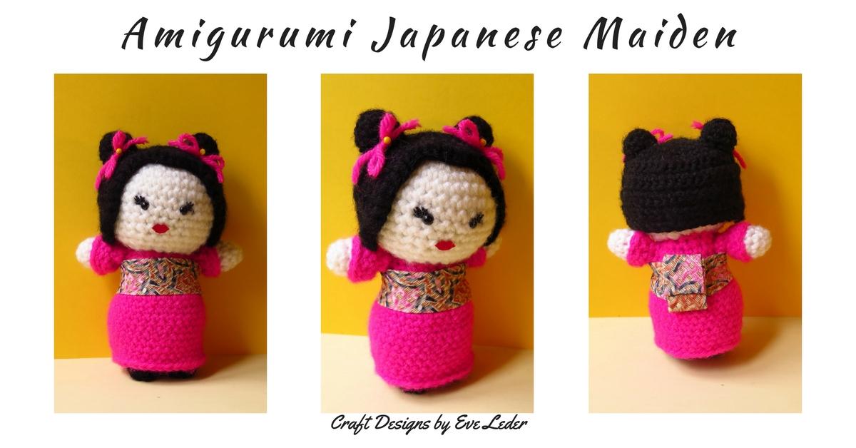 Amigurumi Japanese Maiden Free Pattern Craft Desings By Eve Leder