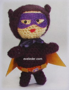 Crochet superhero--this super hero is called Violet Warrior