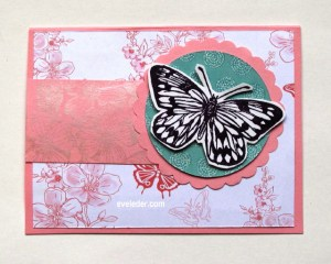 Plum Butterfly Card--Free Card Making Tutorial