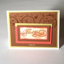 Design adhesive embellished card--Thank you card inspiration