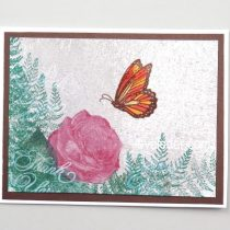 Butterfly Rose Card--Thank you card to make
