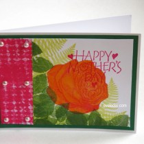 Rose Card--Free card making project for Mother's Day