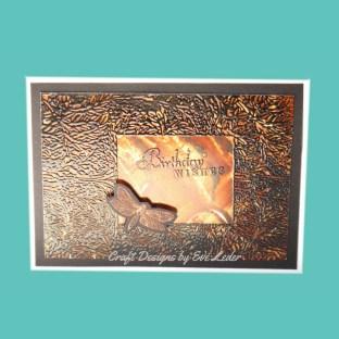 Dramatic Dragonfly Birthday Card--FREE card making tutorial