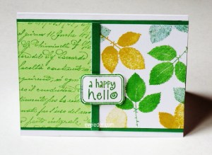 Happy Hello Card--free card making tutorial