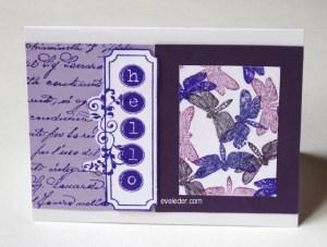 Purple Dragonfly--Free card making tutorial