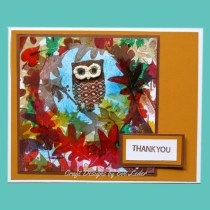 Owl Card to make to say Thank You