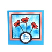 Red Poppy Flower Birthday