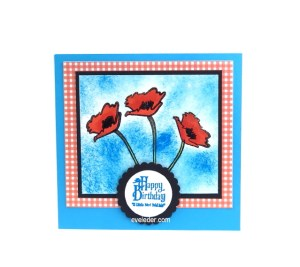 Red Poppy Flower Birthday Card