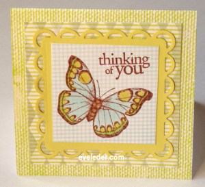 Textured Butterfly Card