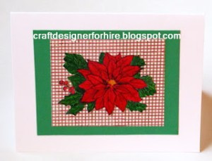 Traditional Poinsettia Card Design
