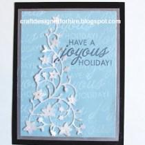 Joyous Holiday Card--Free Christmas Card Tutorial